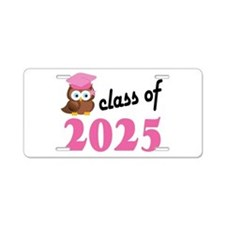 Class of 2025 (Owl) Aluminum License Plate