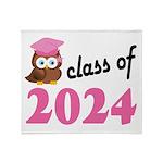 Class of 2024 (Owl) Throw Blanket