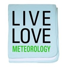 Live Love Meteorology baby blanket