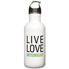 Live Love Meteorology Water Bottle