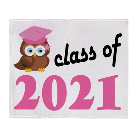 Class of 2021 (Owl) Throw Blanket