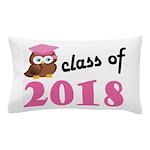 Class of 2018 (Owl) Pillow Case