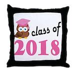 Class of 2018 (Owl) Throw Pillow