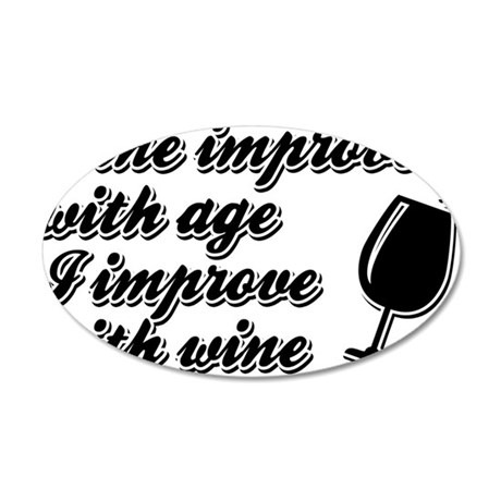 Wine improves with Age Wall Decal