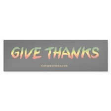 Rasta Give Thanks Bumper Bumper Sticker