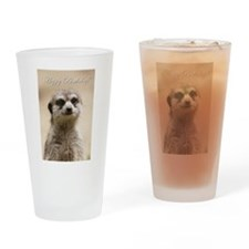 Happy Birthday Meerkat Drinking Glass