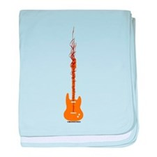 rock Guitar Waves baby blanket