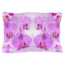 Pink Orchids Pillow Case