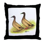 Khaki Campbell Ducks Throw Pillow
