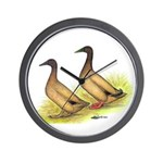 Khaki Campbell Ducks Wall Clock