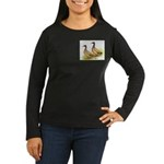 Khaki Campbell Ducks Women's Long Sleeve Dark T-Sh
