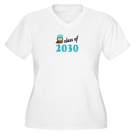 Class of 2030 (Ow Women's Plus Size V-Neck T-Shirt