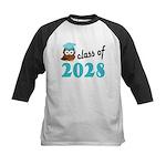Class of 2028 (Owl) Kids Baseball Jersey