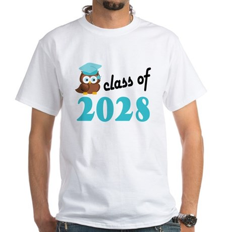 Class of 2028 (Owl) White T-Shirt