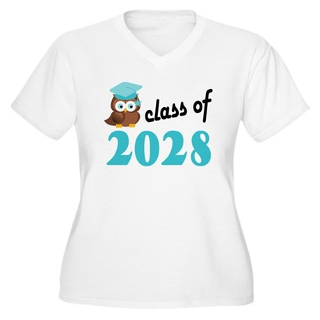 Class of 2028 (Ow Women's Plus Size V-Neck T-Shirt