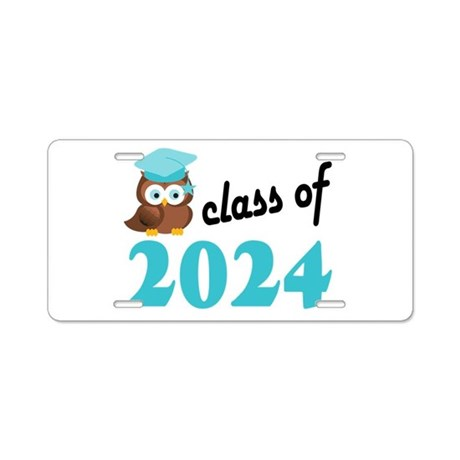 Class of 2024 (Owl) Aluminum License Plate