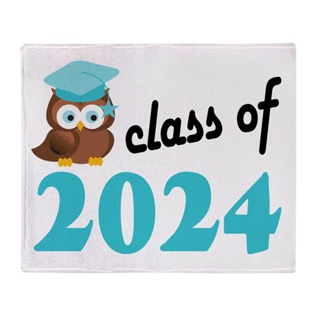 Class of 2024 (Owl) Throw Blanket