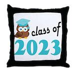 Class of 2023 (Owl) Throw Pillow