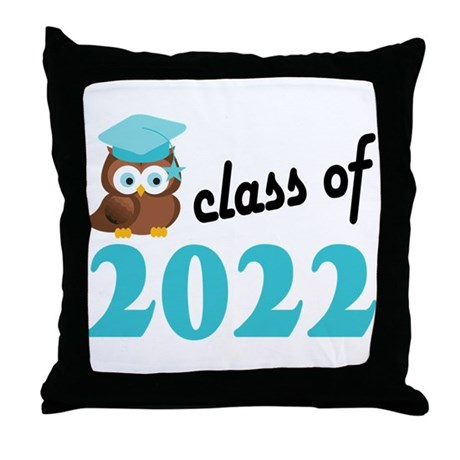 Class of 2022 (Owl) Throw Pillow