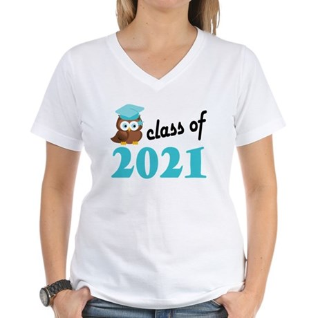 Class of 2021 (Owl) Women's V-Neck T-Shirt