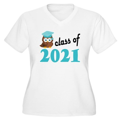 Class of 2021 (Ow Women's Plus Size V-Neck T-Shirt