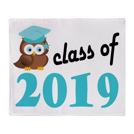 Class of 2019 (Owl) Throw Blanket