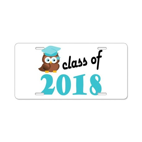 Class of 2018 (Owl) Aluminum License Plate