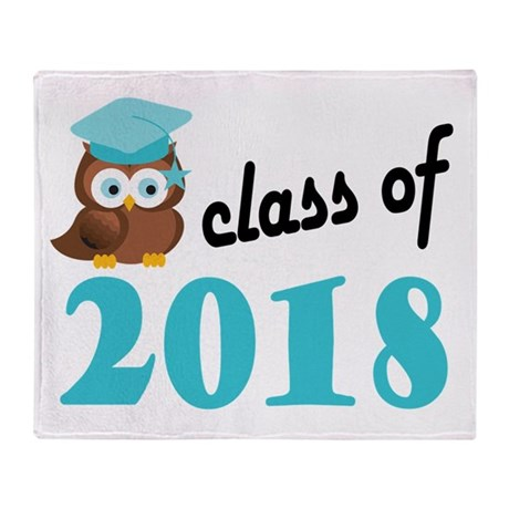Class of 2018 (Owl) Throw Blanket