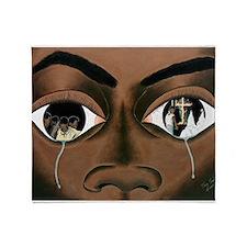 Tears of a Black Man Throw Blanket