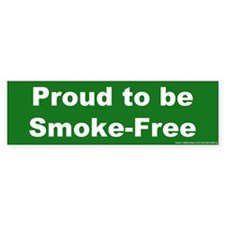 Bumper Sticker: Proud to be Smoke-Free