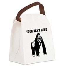 Custom Silverback Gorilla Canvas Lunch Bag