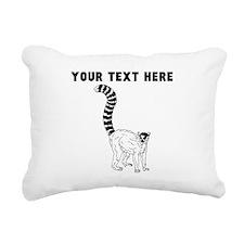 Custom Ring Tailed Lemur Rectangular Canvas Pillow