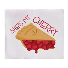 Shes My Cherry Throw Blanket