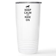 Keep calm and ride on h Travel Mug