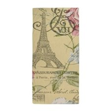 yellow floral elegant paris Eiffel tower art Beach