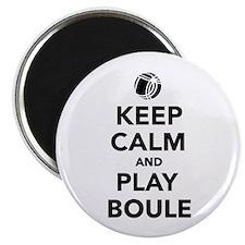 """Keep calm play Boule Boccia 2.25"""" Magnet (10 pack)"""
