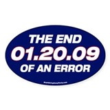 01.20.09 - The End of an Erro Oval Decal