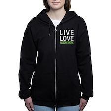 Live Love Needlework Women's Zip Hoodie