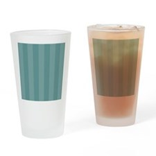 Shades of Teal Stripes Drinking Glass