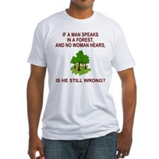 A Man Speaks In A Forest<BR>Fitted Tee 2
