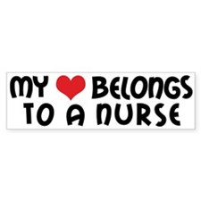 I Heart Nurses Bumper Bumper Sticker