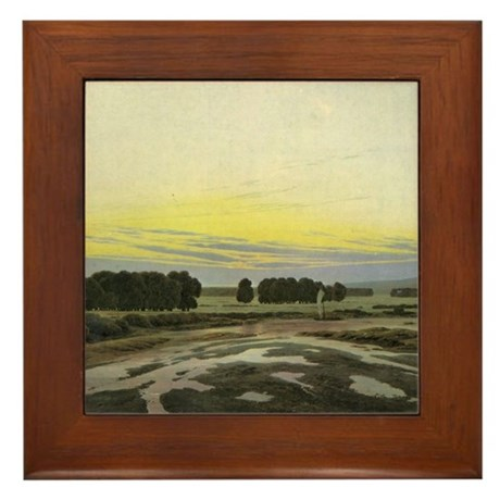 &quot;A Romantic Window&quot; Framed Tile