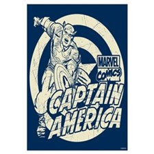 Captain America Vintage Wall Art