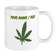 Custom Green Weed Leaf Mugs