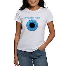 Custom Blue Eye Ball T-Shirt