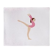 Gymnast Girl Throw Blanket
