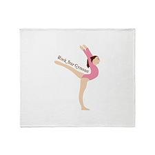 Rock Star Gymnast Throw Blanket
