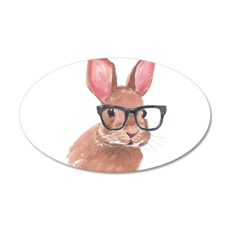 Nerd Bunny Wall Decal