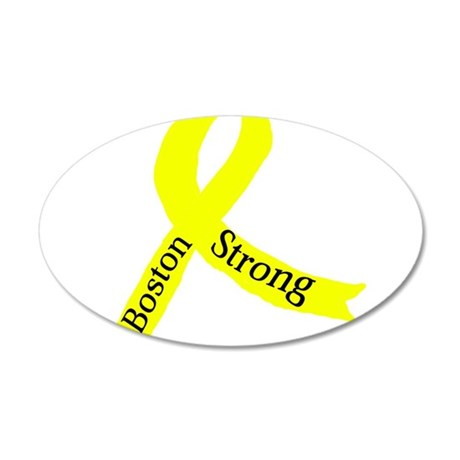 Boston Strong Yellow Ribbon Wall Decal