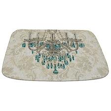 modern chandelier damask fashion paris art Bathmat